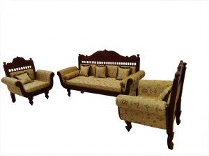 Carved Wooden Sofa Set