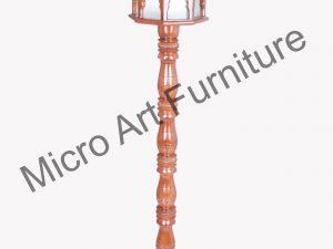 Designer Teak Wood Standing lamp
