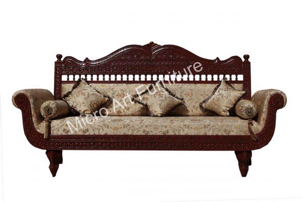 Hand Carved Teak Wood Sofa Set