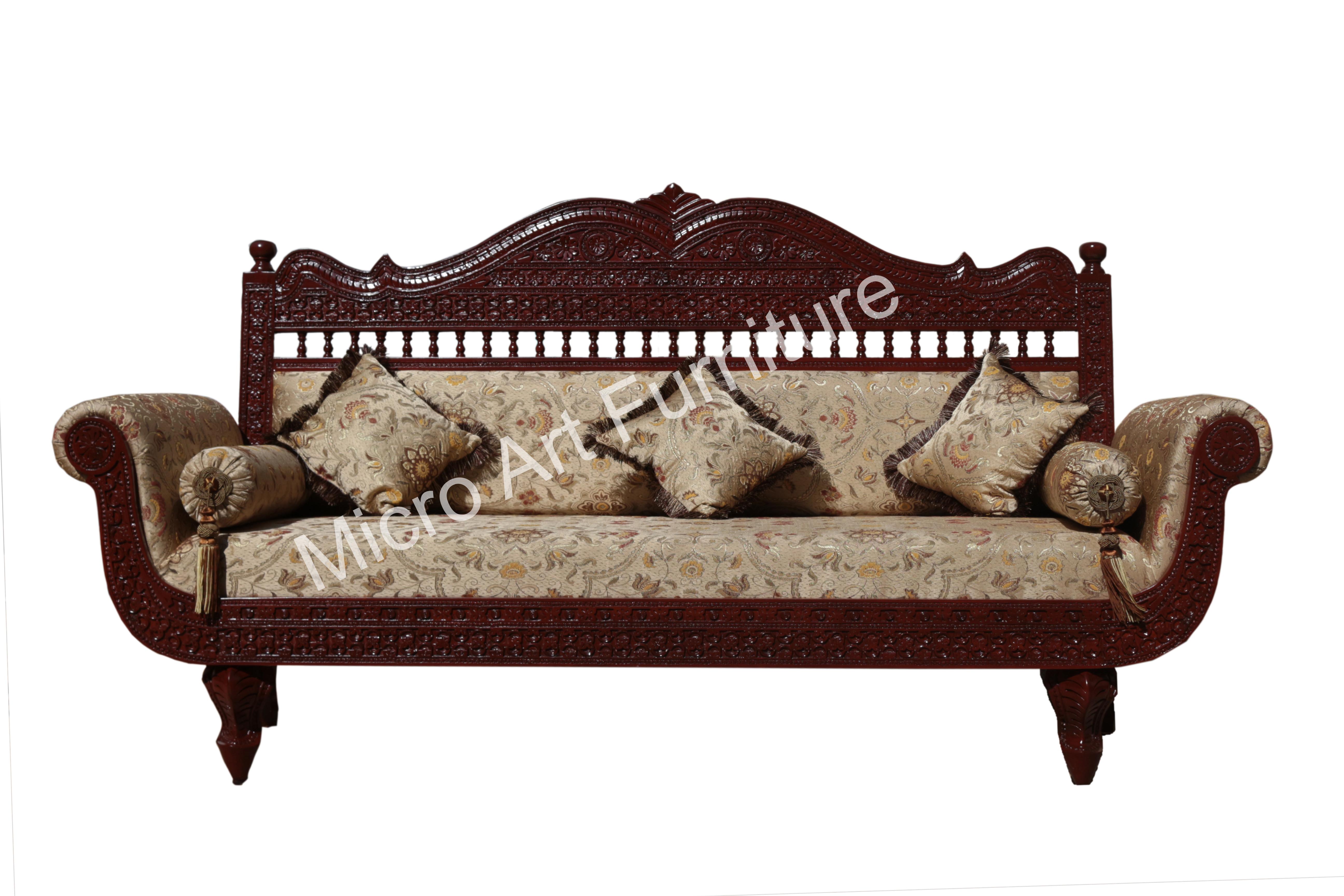 Designer Teak Wood Sofa - Micro Art Furniture